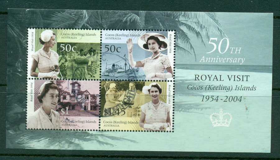 Cocos Keeling Is 2004 Royal Visit MS VFU Lot17806