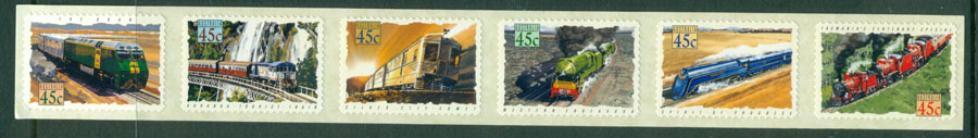 Australia 1993 Trains P&S Strip MUH Lot18522