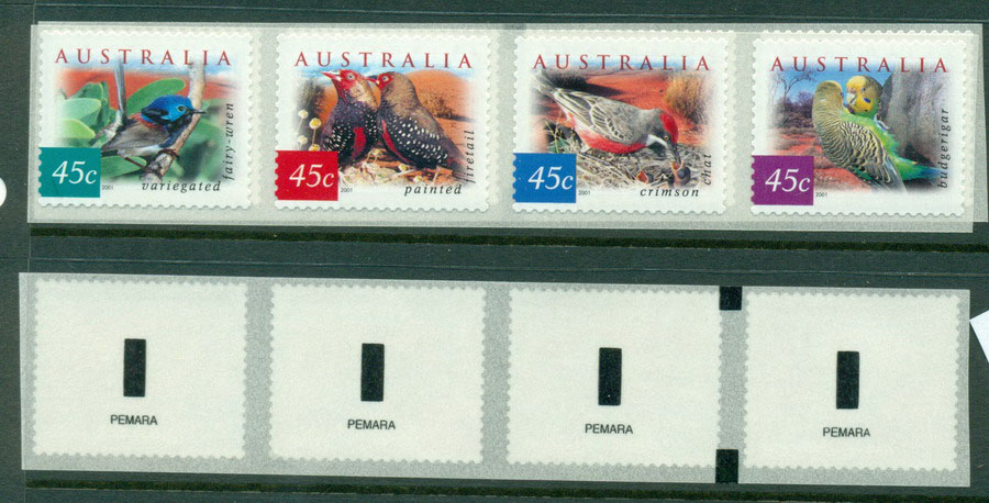 Australia 2001 Desert Birds Strip Pemara P&S MUH Lot18588