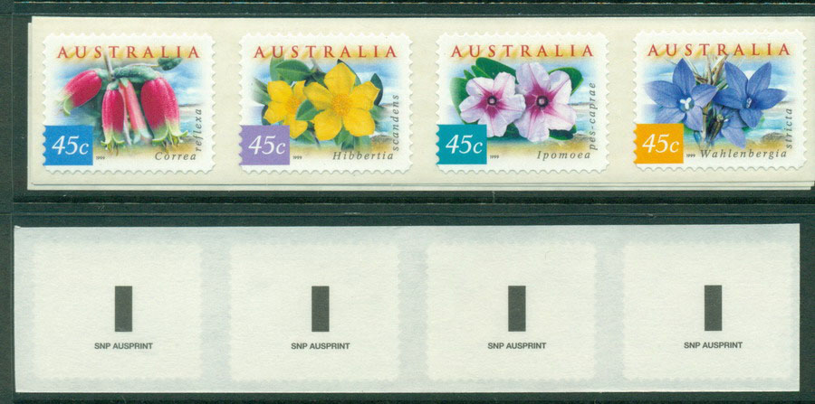 Australia 1999 Coastal Flowers Strip SNP P&S MUH Lot18590