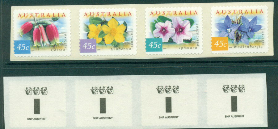 Australia 1999 Coastal Flowers Strip SNP 3K P&S MUH Lot18594