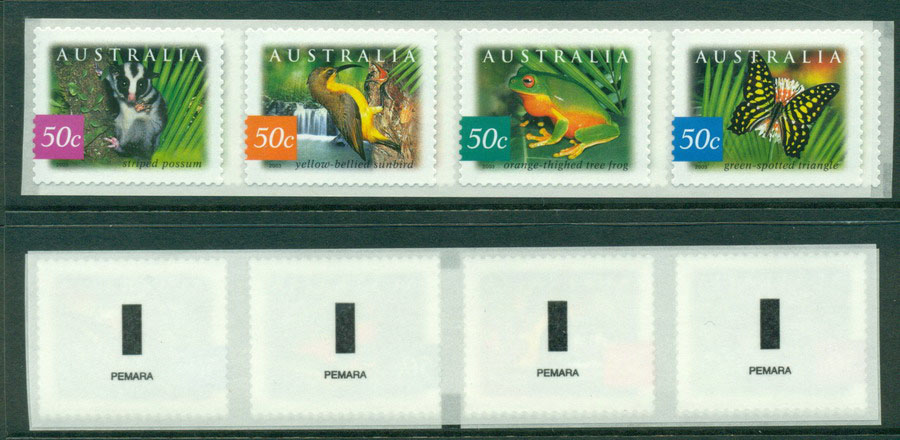 Australia 2003 Rainforests Strip Pemara P&S MUH Lot18605