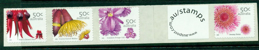 Australia 2005 Wildflowers + lab Strip SEP P&S MUH Lot18613