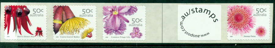 Australia 2005 Wildflowers +lb Strip SEP 1K P&S MUH Lot18618