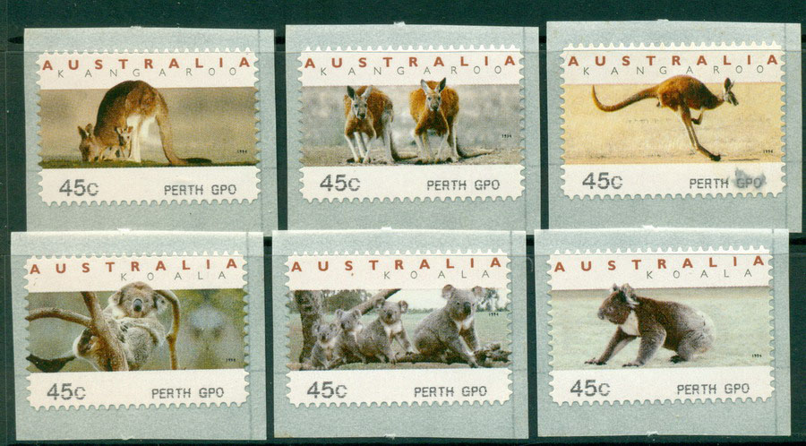 Australia 1995 Koalas & Roos CPS-Perth GPO MUH Lot18633 - Click Image to Close