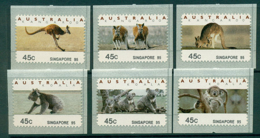 Australia 1995 Koalas & Roos CPS-Singapore 95 MUH Lot18642 - Click Image to Close