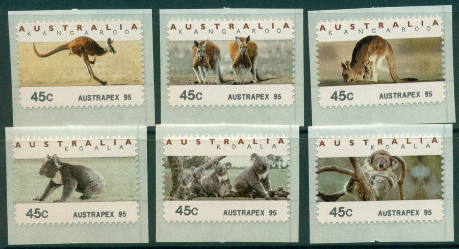 Australia 1995 Koalas & Roos CPS-Austrapex 95 MUH Lot18644 - Click Image to Close