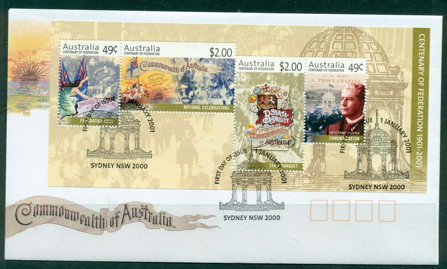 Australia 2001 Federation MS FDC Lot19301