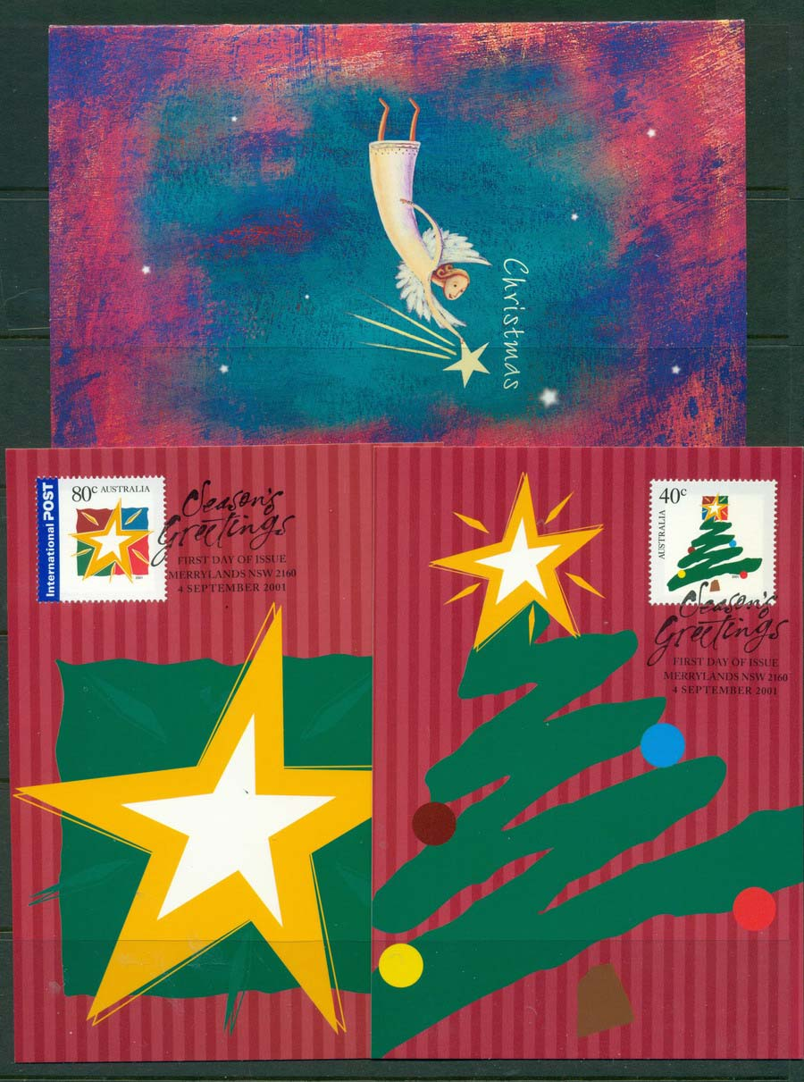 Australia 2001 Seasons Greetings Maxicards & PPk. Lot19305