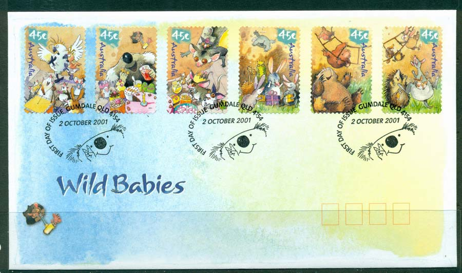 Australia 2001 Wildbabies P&S FDC Lot19317