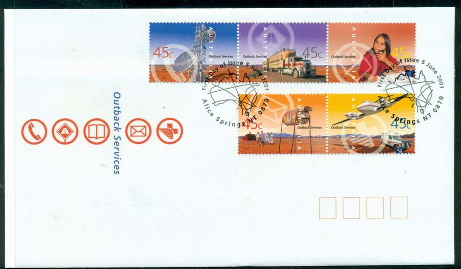 Australia 2001 Outback Services FDC Lot19322