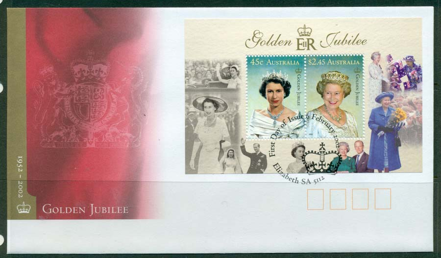 Australia 2002 Jubilee MS FDC Lot19331