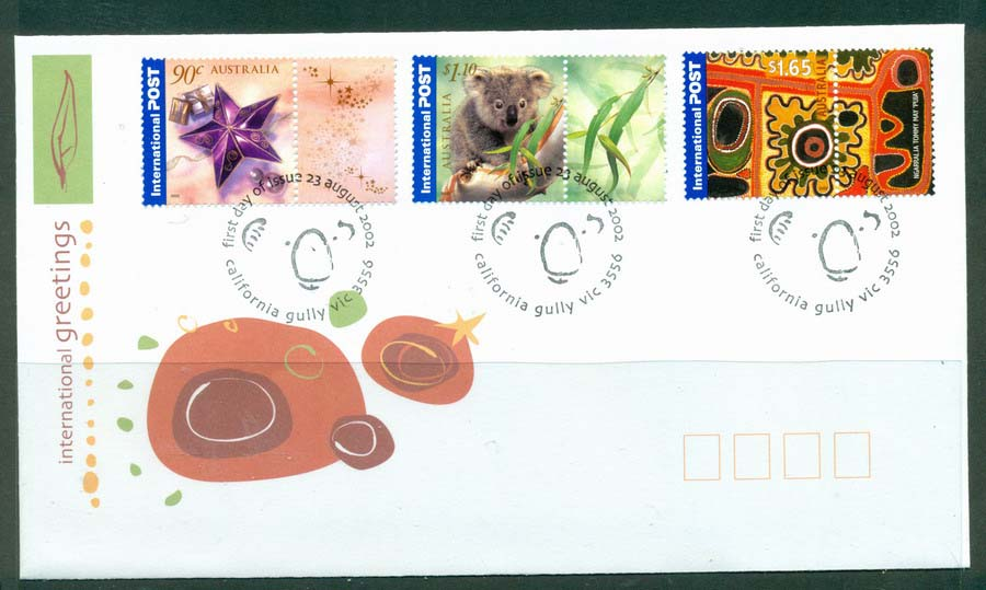 Australia 2002 International Greetings FDC Lot19345