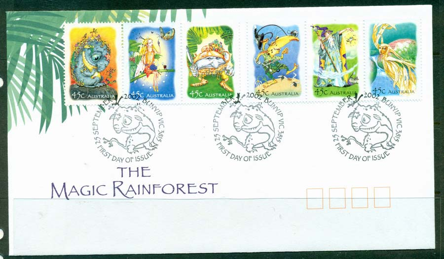 Australia 2002 Magic Rainforest FDC Lot19347