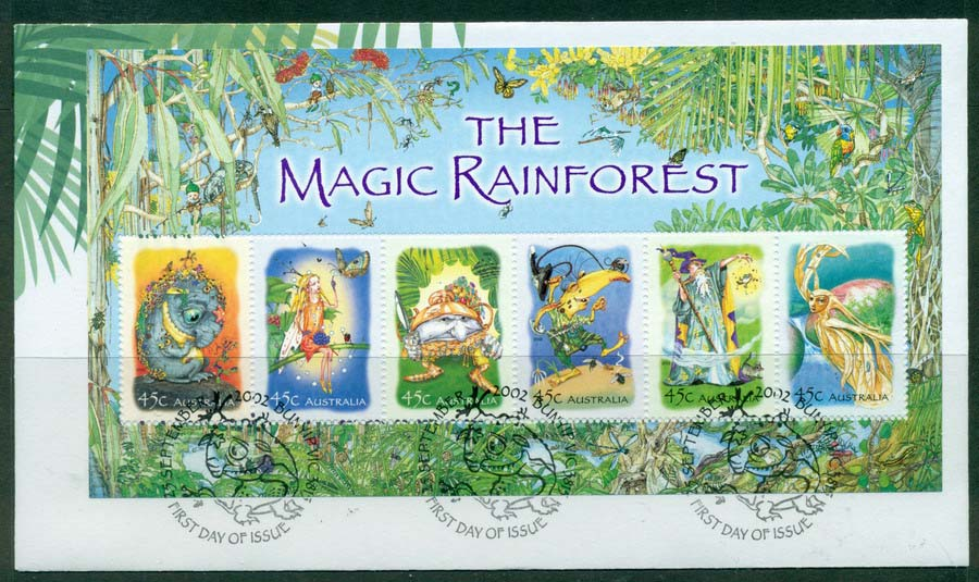 Australia 2002 Magic Rainforest MS FDC Lot19349