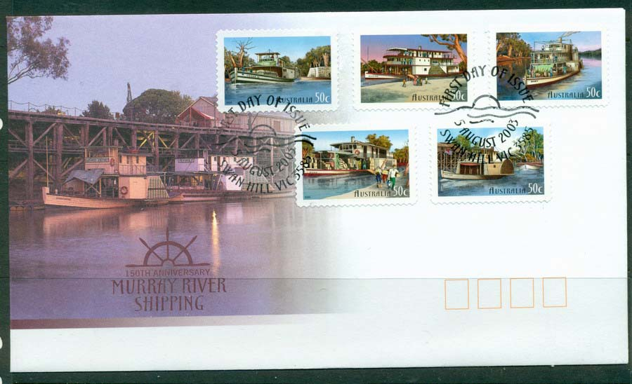Australia 2002 Murray River Shipping P&S FDC Lot19353