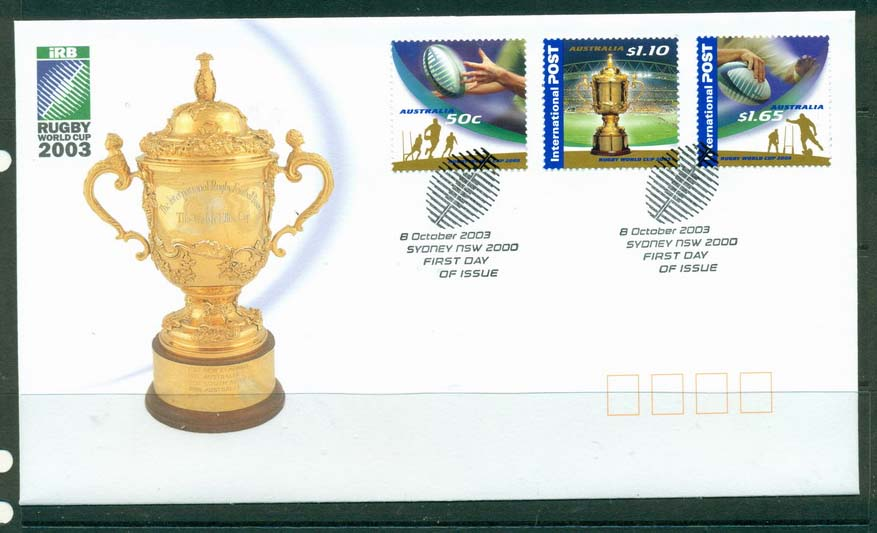 Australia 2003 Rugby World Cup FDC Lot19362