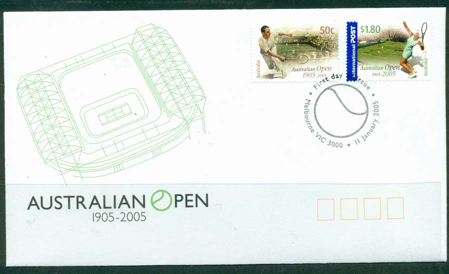 Australia 2005 Australian Tennis Open FDC Lot19405