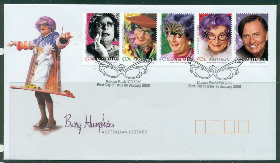 Australia 2006 Barry Humphries FDC Lot19429