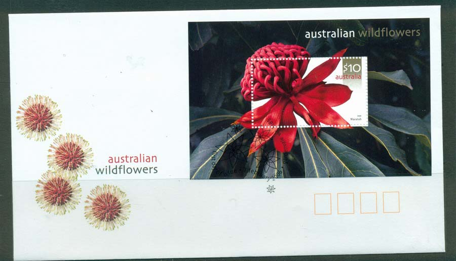 Australia 2006 Australian Wildflowers MS FDC Lot19433