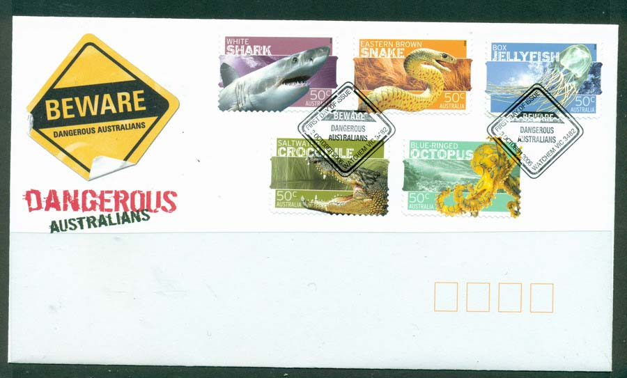 Australia 2006 Dangerous Australians FDC Lot19443