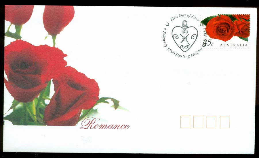 Australia 1999 Romance, Darling Heights FDC Lot19451