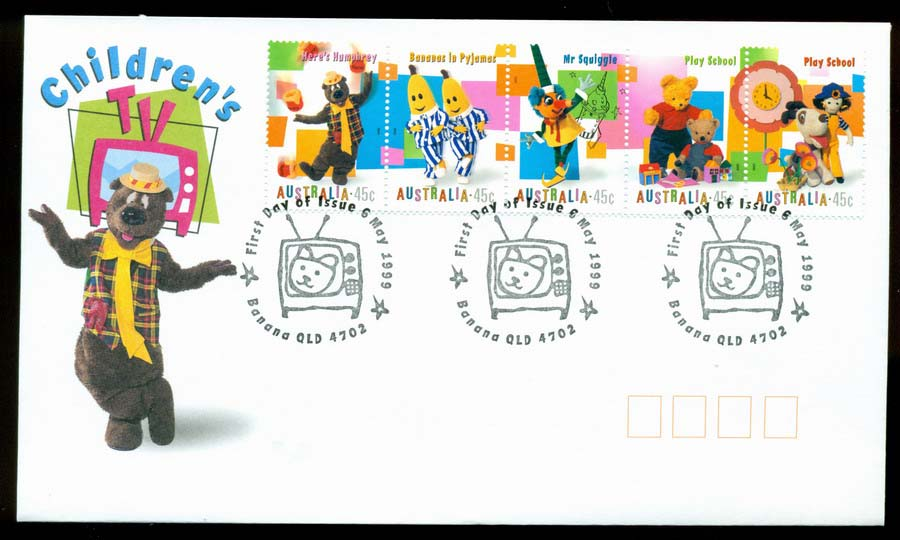 Australia 1999 Childrens, Banana Qld TV FDC Lot19461
