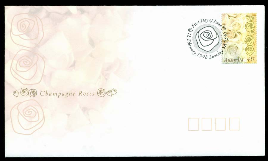 Australia 1998 Champagne Roses Flowers, Loveday FDC Lot19475