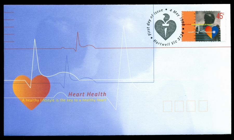 Australia 1998 Heart Health, Hartwell FDC Lot19479