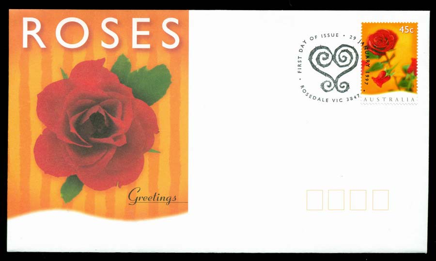 Australia 1997 Roses Flowers FDC Lot19498