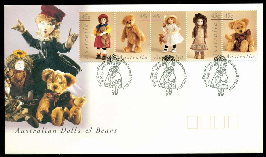 Australia 1997 Dolls & Bears, Camberwell FDC Lot19507