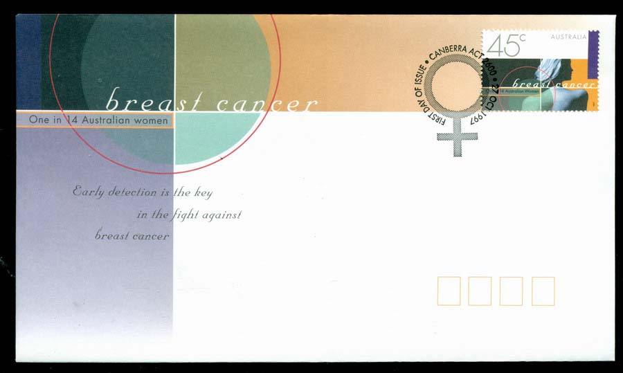 Australia 1997 Breast Cancer Awareness,Canberra FDC Lot19518