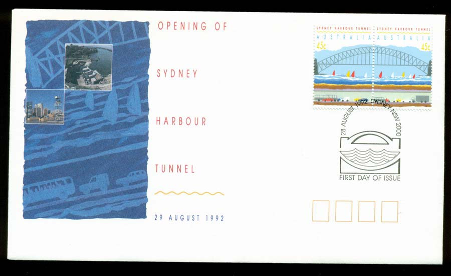Australia 1992 Harbour Tunnel FDC Lot19637
