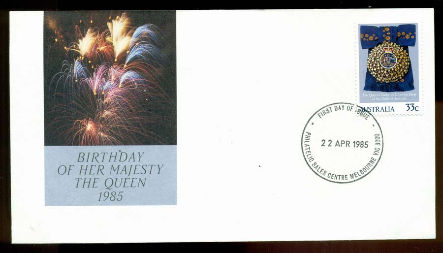 Australia 1985 Queens Birthday FDC Lot19703