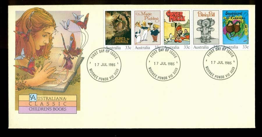 Australia 1985 Childrens Books, Moonee Ponds FDC Lot19705