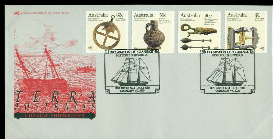 Australia 1985 Coastal Shipwrecks FDC Lot19713