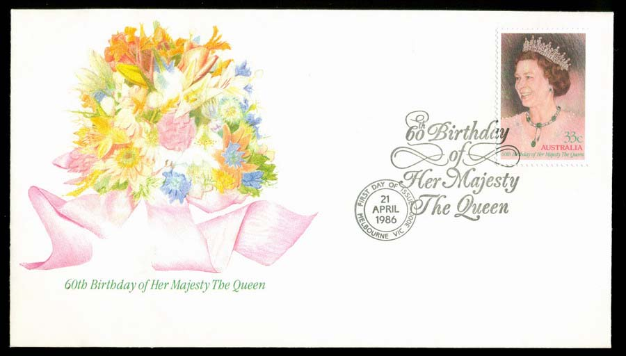 Australia 1986 Queens Birthday FDC Lot19733
