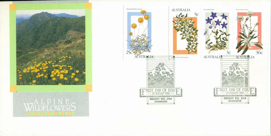 Australia 1986 Alpine Flowers FDC Lot19740