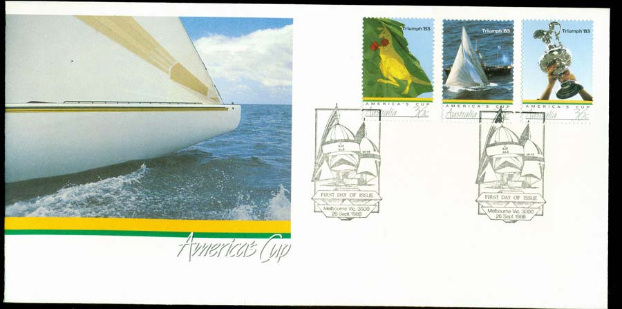 Australia 1986 Americas Cup FDC Lot19745