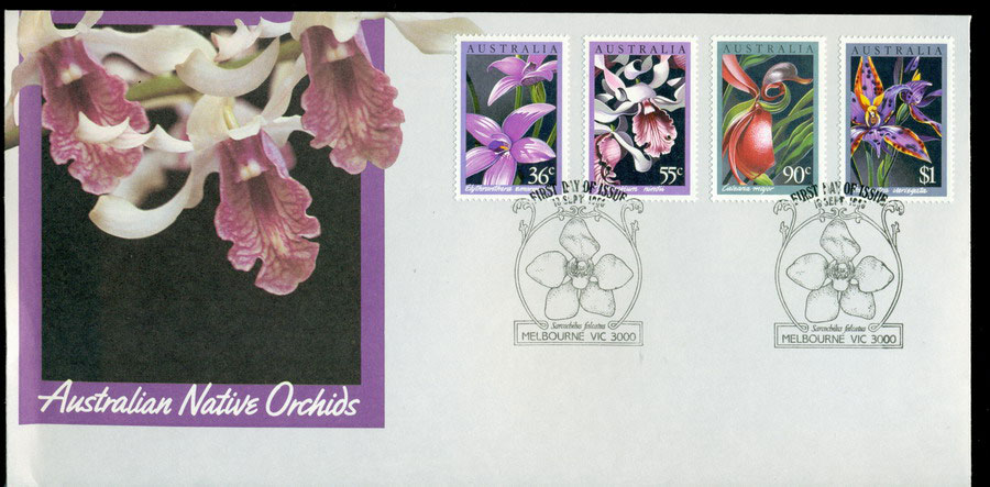 Australia 1986 Native Orchids Flowers FDC Lot19752