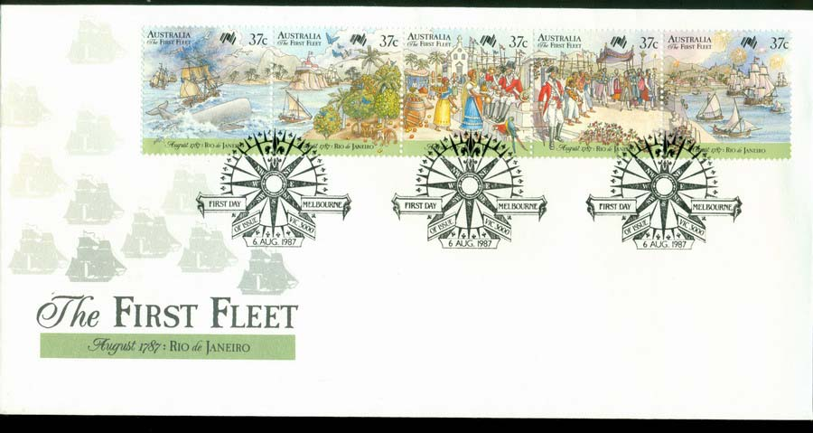 Australia 1987 First Fleet-Rio FDC Lot19794