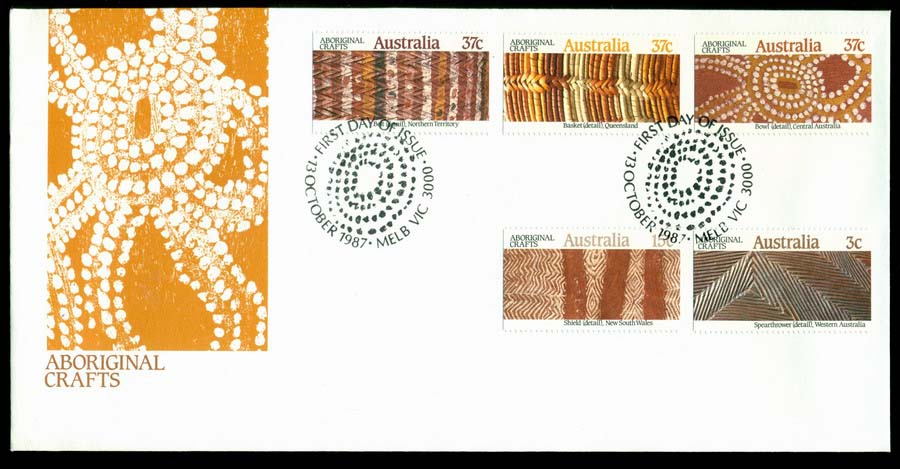 Australia 1987 Aboriginal Crafts FDC Lot19799