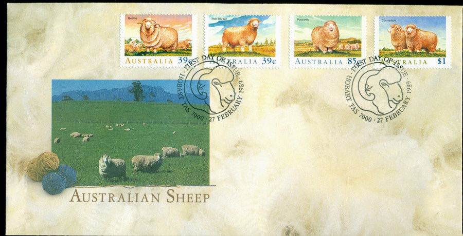 Australia 1989 Sheep FDC Lot19871