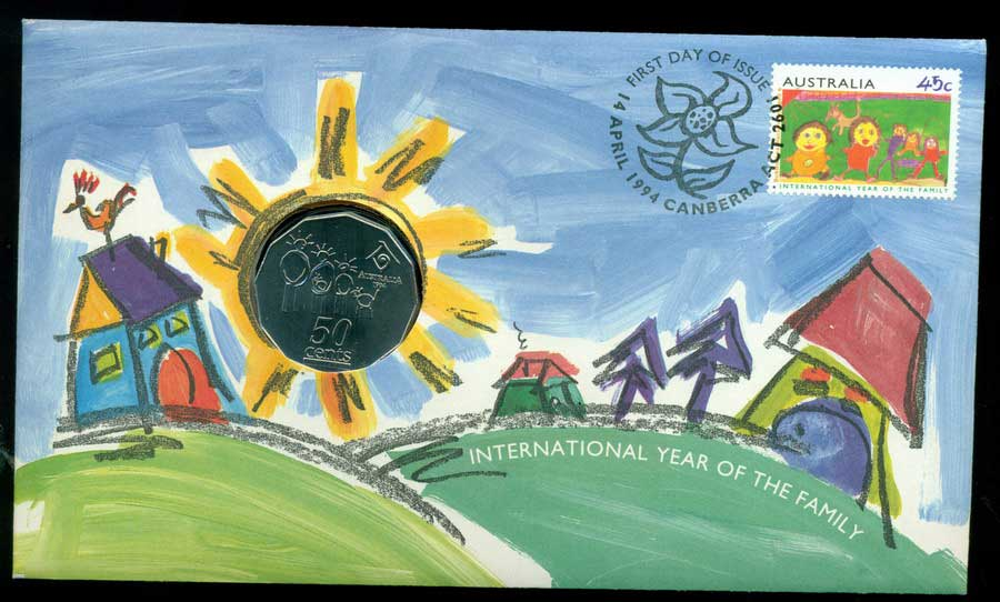 Australia 1994 International Year of the Family PNC Lot19896