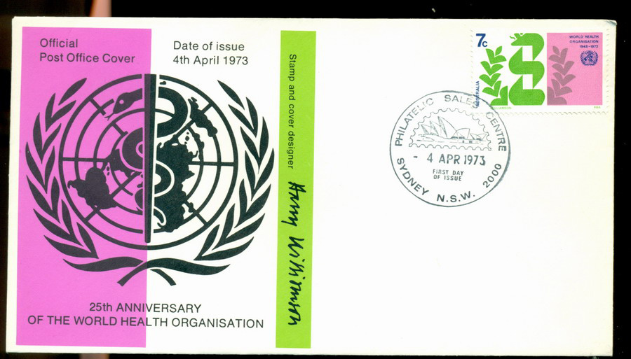 Australia 1973 WHO FDC Lot19979