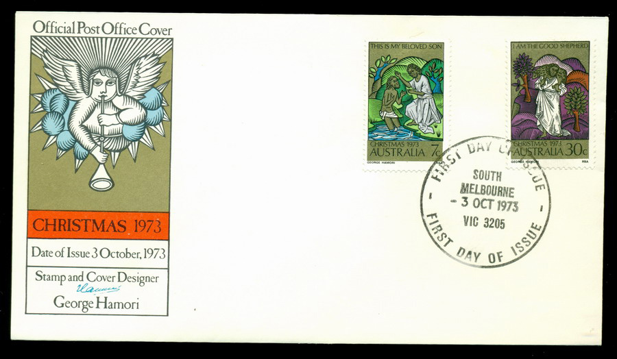 Australia 1973 Xmas- South Melbourne FDC Lot19989