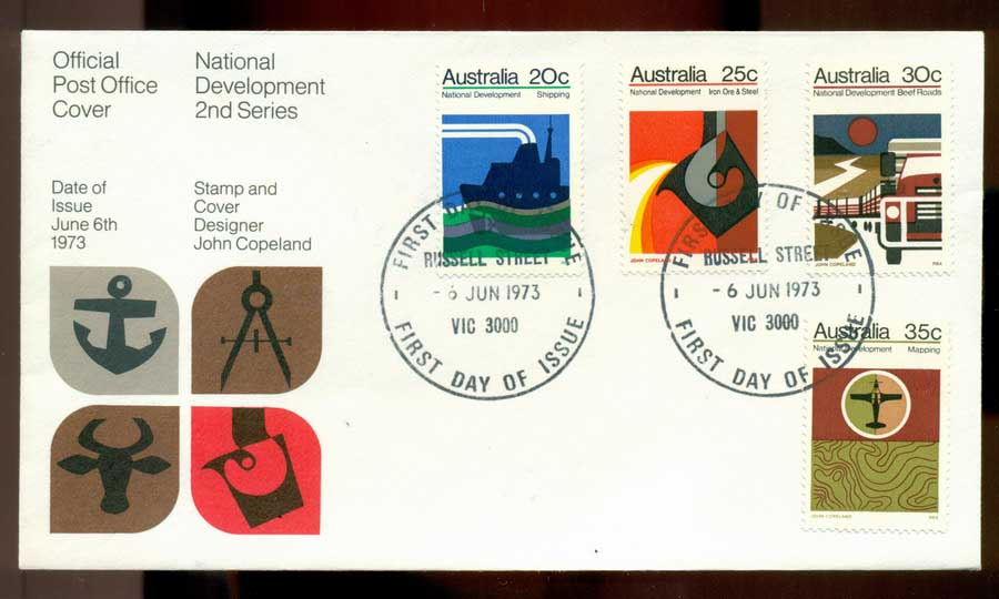 Australia 1973 National Development -Russell St FDC Lot19994