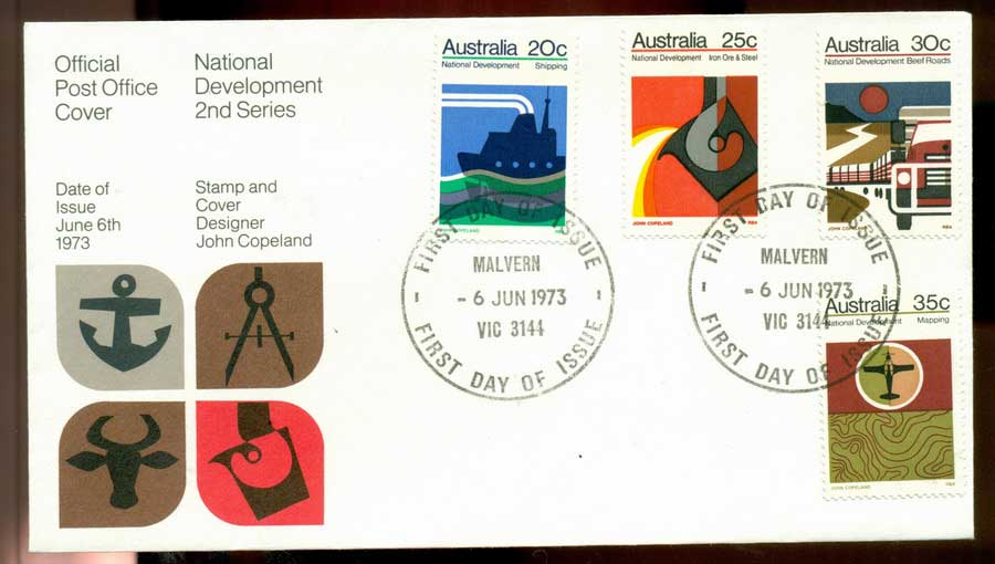 Australia 1973 National Development -Malvern FDC Lot19996