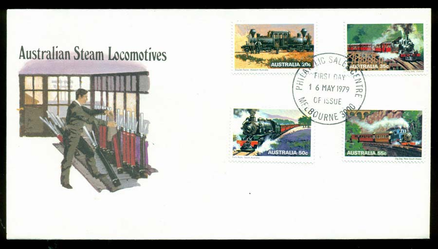Australia 1979 Trains FDC Lot20190