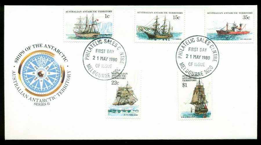 AAT 1980 Ships II, Melb Philatelic Sales FDC Lot20209